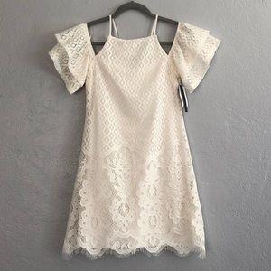 JCP Speechless White Lace Mini Dress